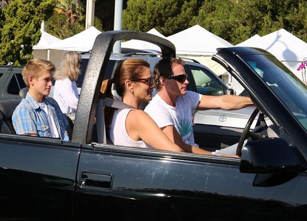 Синди Кроуфорд с мужем и сыном