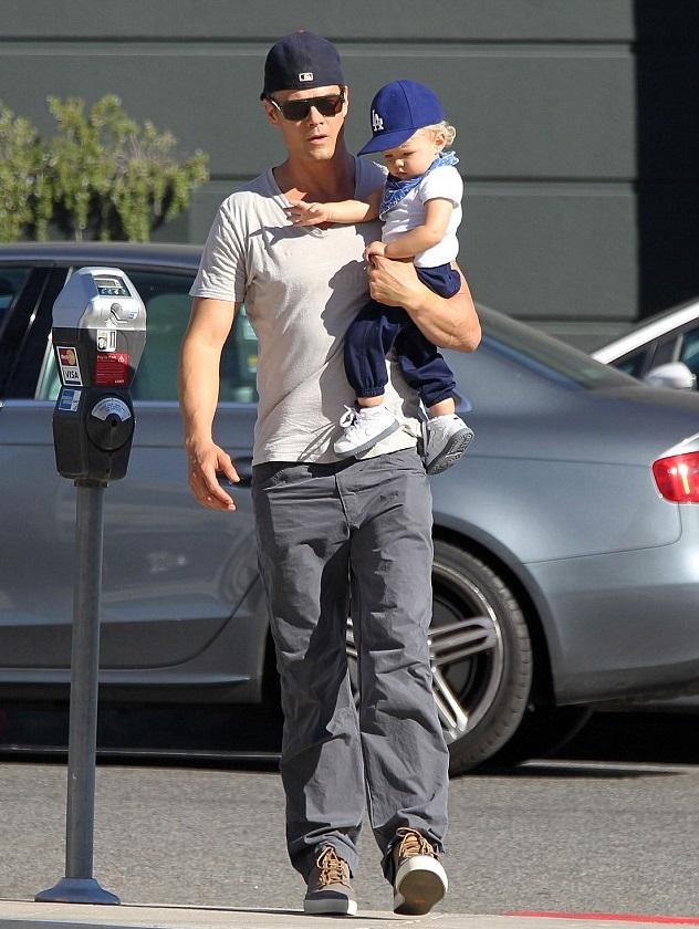Джош Дюамель с сыном