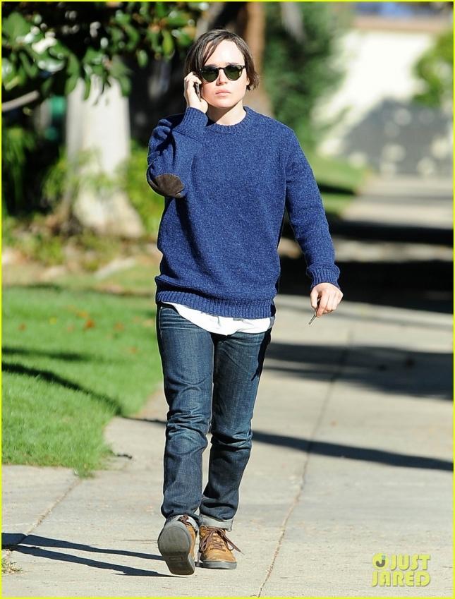 Эллен Пейдж сходила в гости к друзьям в Лос-Анджелесе