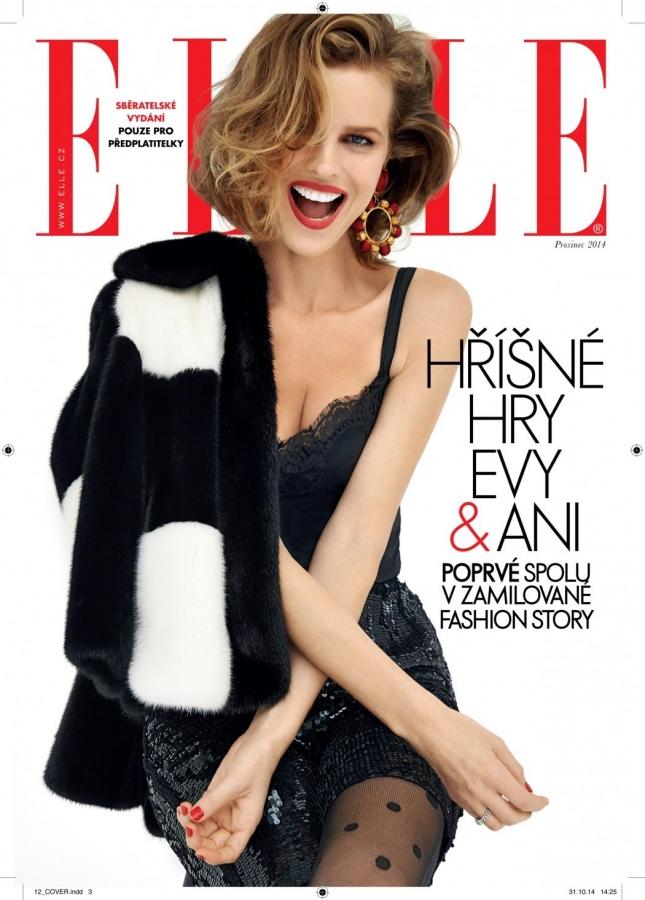 Ева Герцигова на обложке Elle Чехия