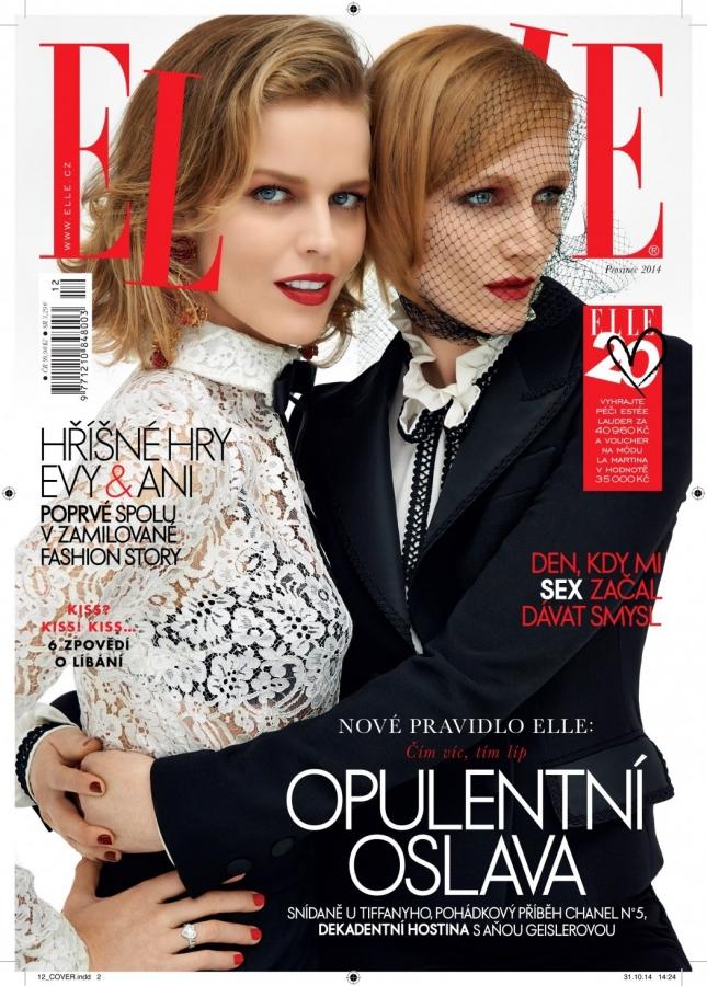 Ева Герциговаи Анна Гейслерова на обложке Elle Чехия