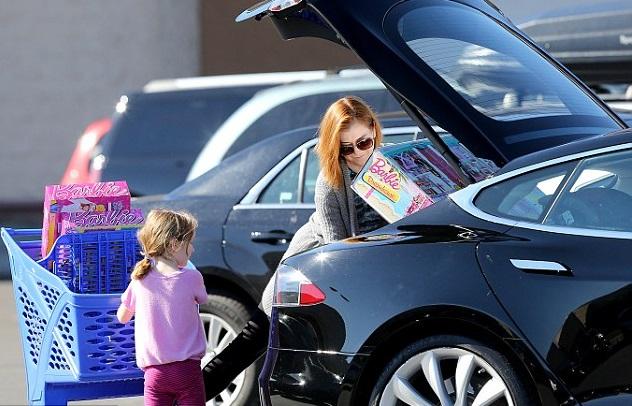 Элисон Ханниган с дочкой