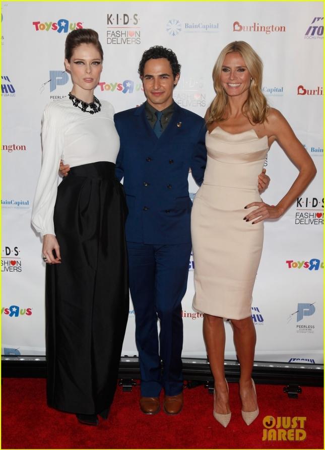 Коко Роша, Зак Позен и Хайди Клум на K.I.D.S./Fashion Delivers Gala в Американском музее естественной истории