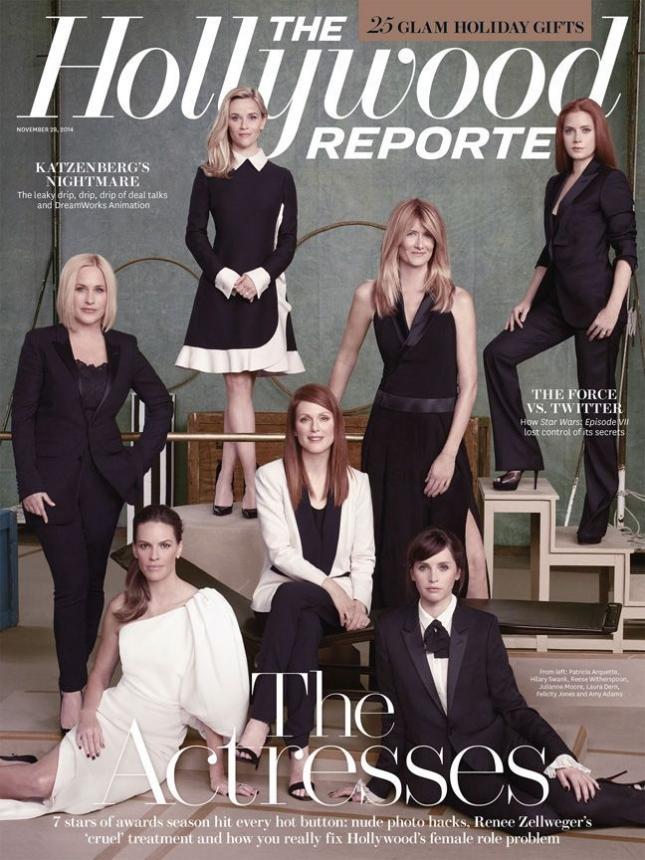 актрисы на 25-й обложке The Hollywood Reporter