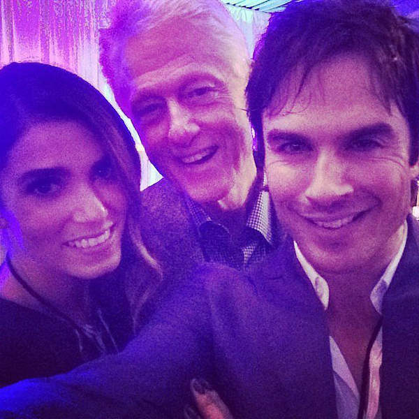 Ian-Somerhalder-Nikki-Reed-looked-excited-meet-Bill-Clinton