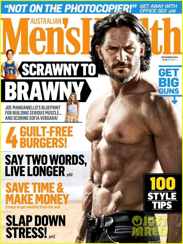 Полуобнаженный Джо Манганьелло на обложке Men's Health Австралия