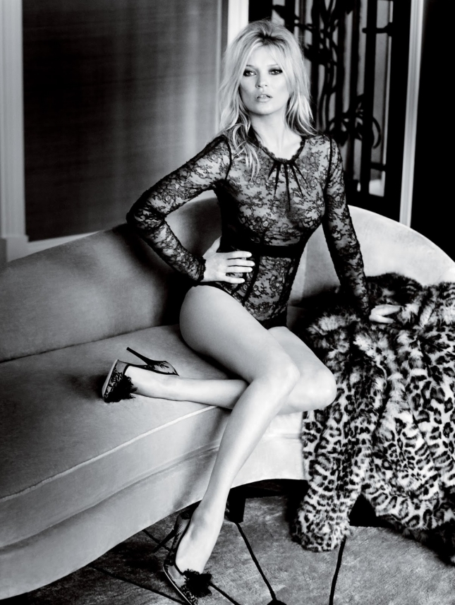 Кейт Мосс в фотосессии для Vogue UK, декабрь 2014