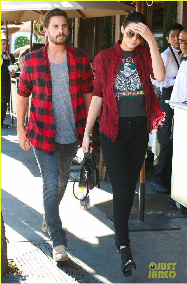 kendall-jenner-scott-disick-match-in-red-flannel-shirts-05