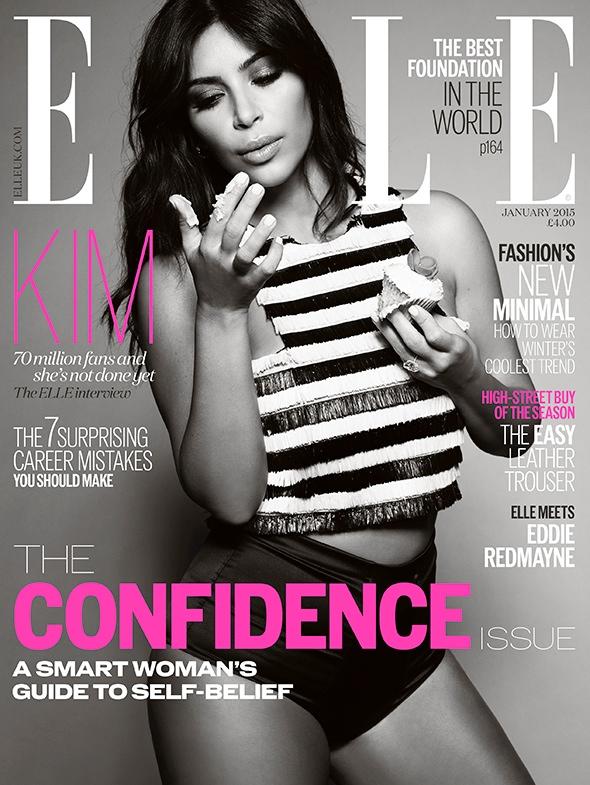 Ким Кардашьян для Elle UK, январь 2015