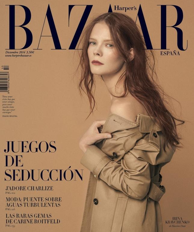 Ирина Кравченко на обложке Harper's Bazaar Испания