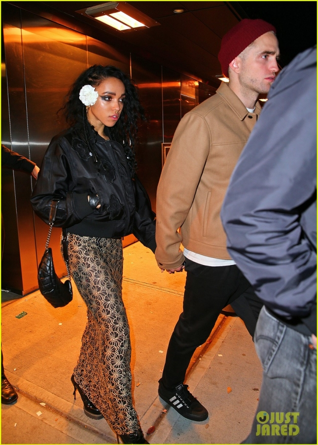 Robert Pattinson and FKA Twigs hold hands when coming out of Melrose Ballroom after hanging out with Rihanna