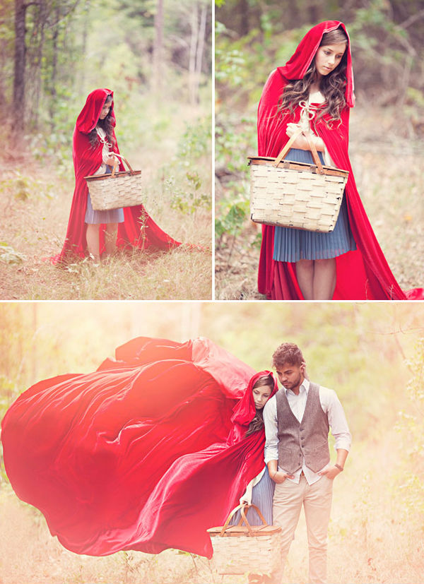 Little-Red-Riding-Hood-fairytale-engagement-photo