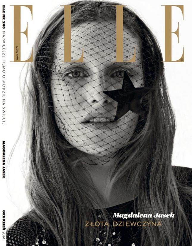 Магдалена Ясек на обложке Elle Польша
