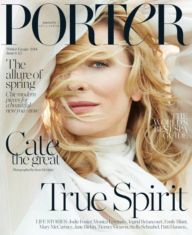Кейт Бланшетт на обложке Porter Magazine