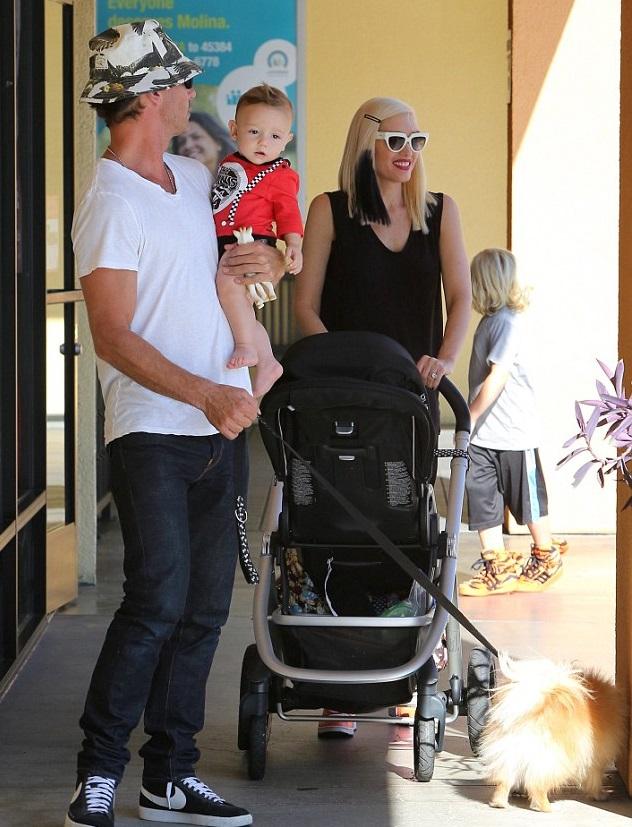 Гвен Стефани с семьей