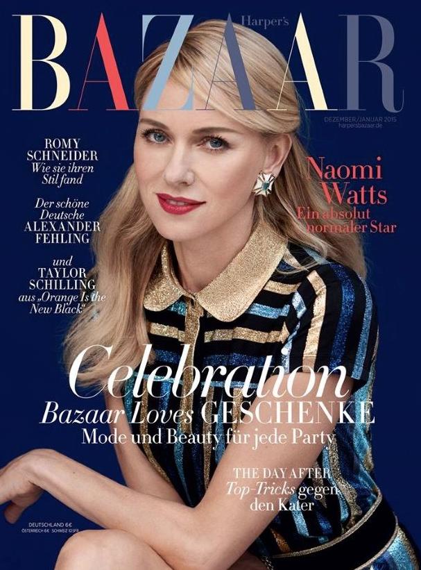 Наоми Уоттс на обложке Harper's Bazaar Germany декабрь-январь 2015