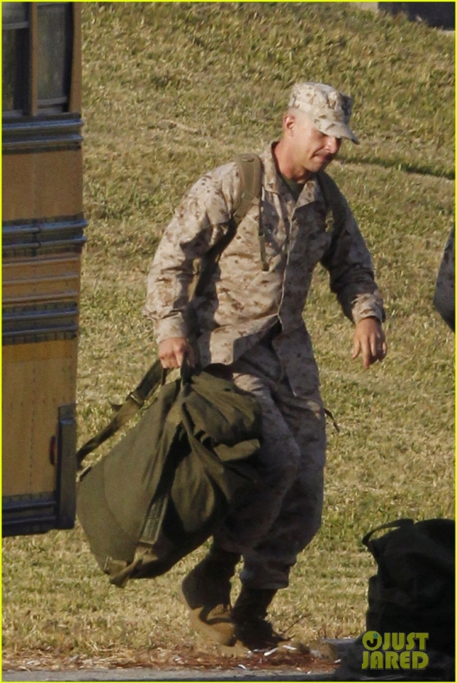 EXCLUSIVE: SOLDIER SHIA! Shia LaBeouf jogs with a gunnysack and wore military fatigues on the set of 'Man Down' filming in New Orleans