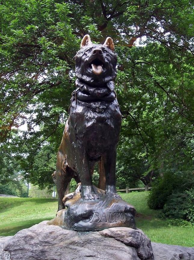 Статуя Балто в Центральном парке Нью-Йорка