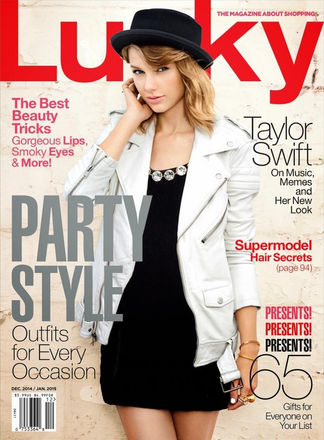 Тейлор Свифт на обложке   Lucky Magazine, декабрь 2014
