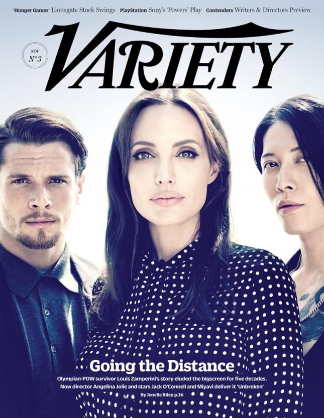 Анджелина Джоли, Джек О'Коннелл и Мияви на обложке Variety