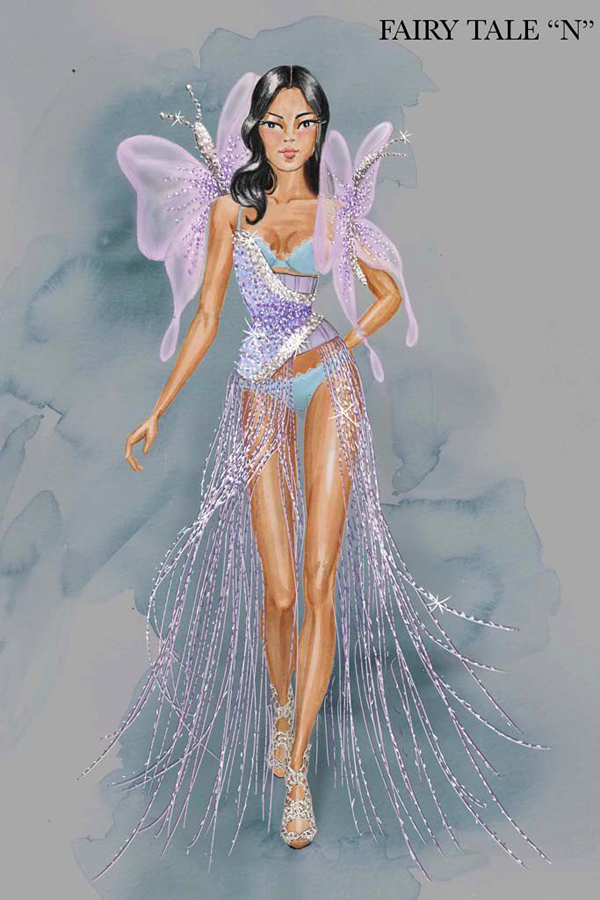 эскиз костюма Лили