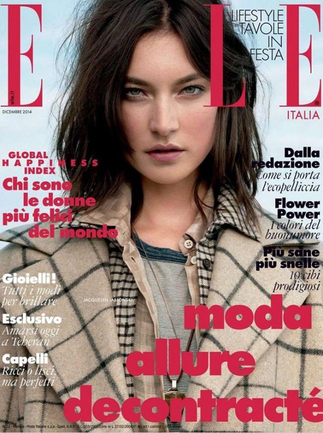 Жаклин Яблонски на обложке Elle Италия