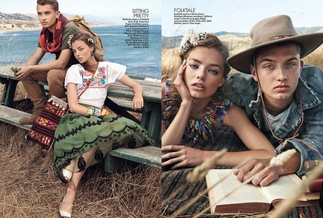 Кристин Фросет в фотосессии для Teen Vogue