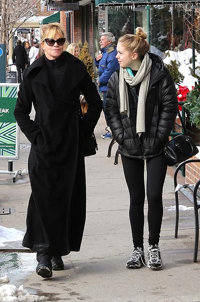 Мелани Гриффит с младшей дочкой Стеллой