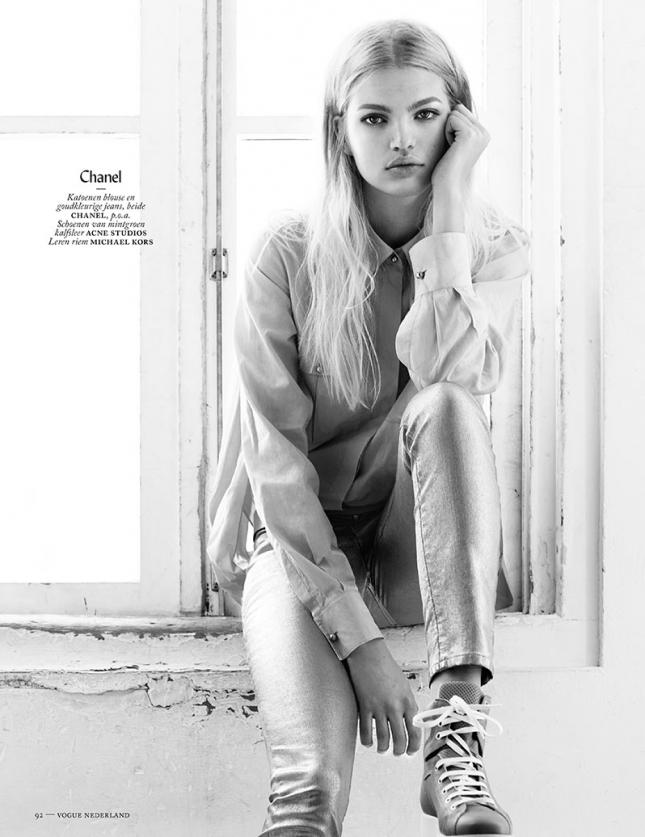 Дафна Гроенвельд в фотосессии для  Vogue Netherlands, январь 2015