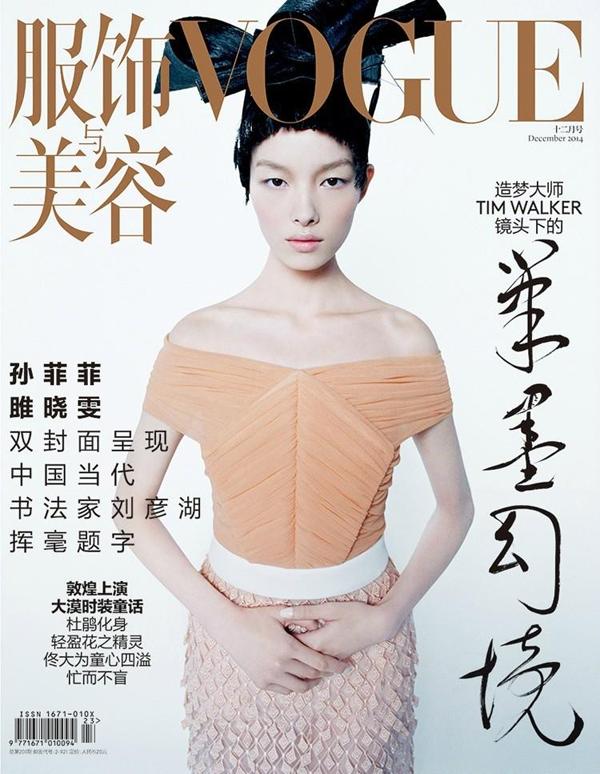 Фей Фей Сун на обложке Vogue Китай, декабрь 2014