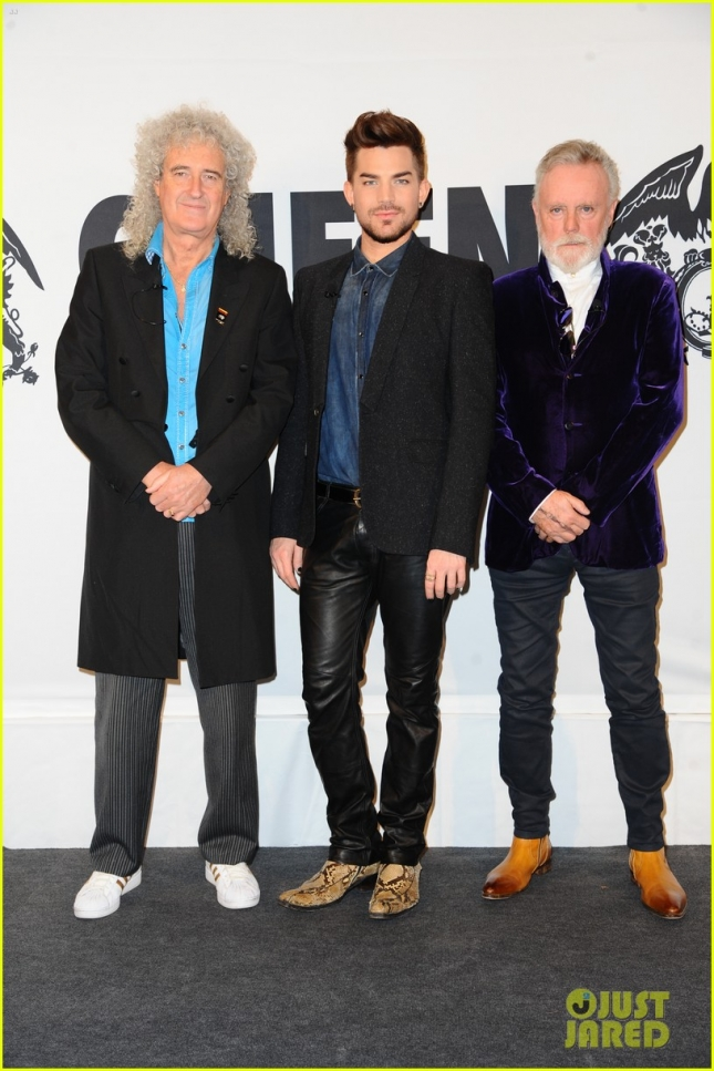Brian May and Roger Taylor of Queen and Adam Lambert promoting their tour 'Queen and Adam Lambert'