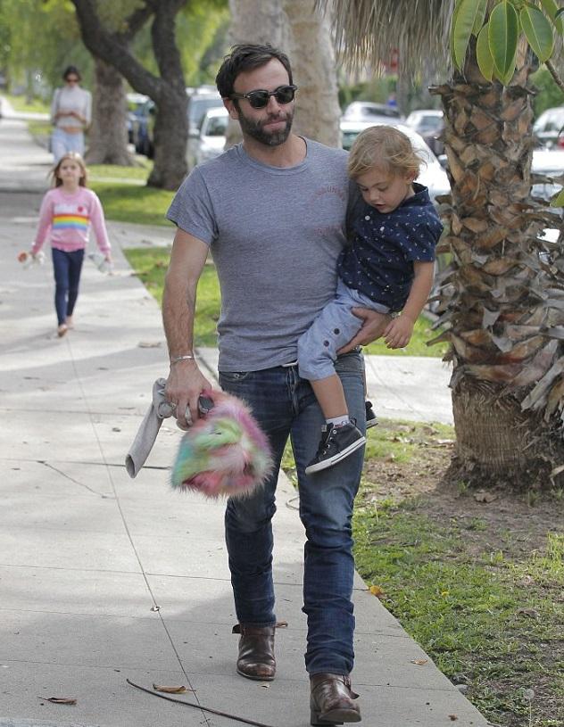 Джейми Мазур с сыном