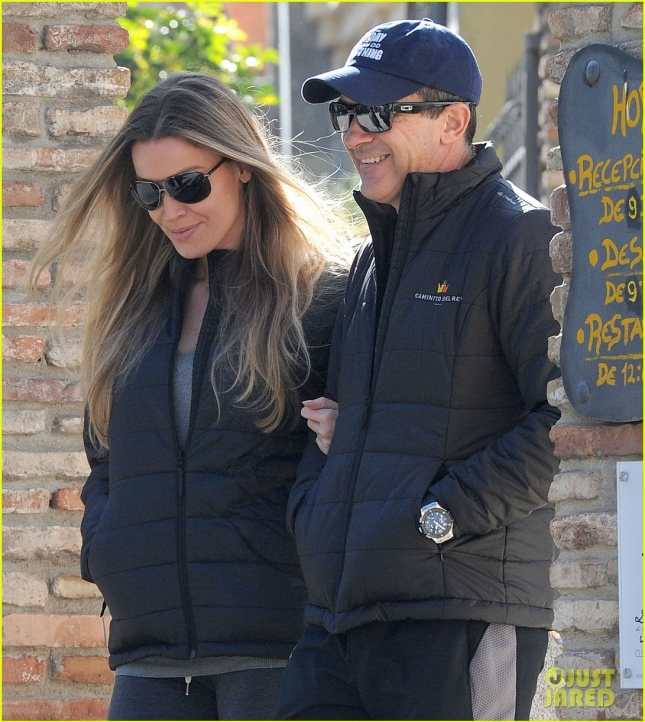 Antonio Banderas & Nicole Kimpel Out For A Hike In Malaga