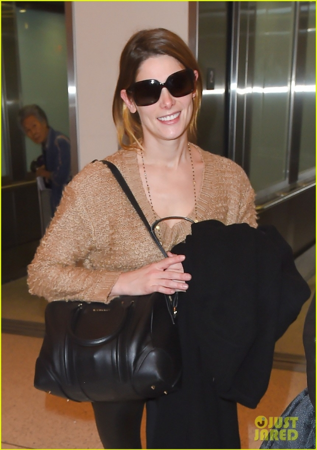Ashley Greene and Paul Khoury make their way thru LAX **NO UK**