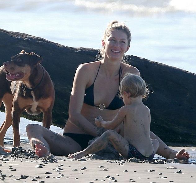 Жизель Бундхен с семьей