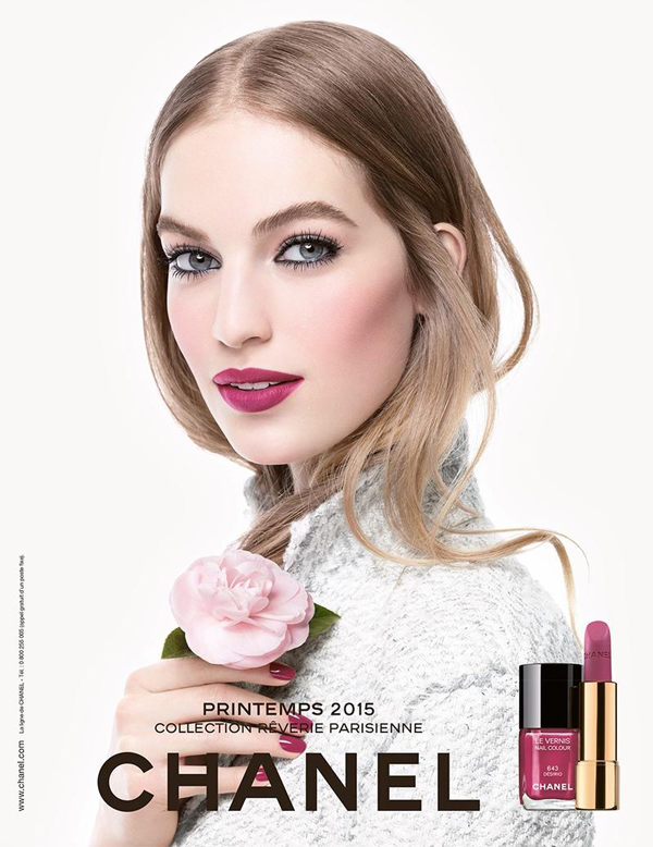 Ванесса Аксенте в рекламе CHANEL Spring 2015 Make Up Collection