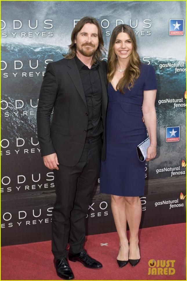 Кристиан Бейл со своей супругой Сиби