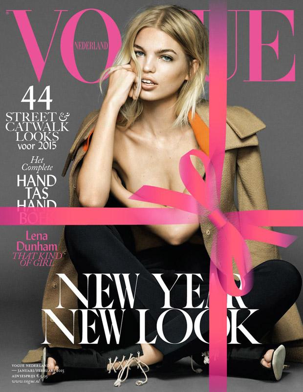 Дафна Гроенвельд на обложке Vogue Netherlands, январь 2015