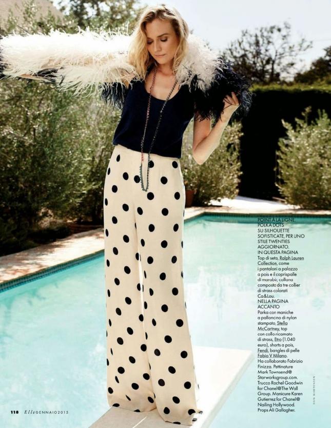 Диана Крюгер в фотосессии для Elle Италия, январь 2015