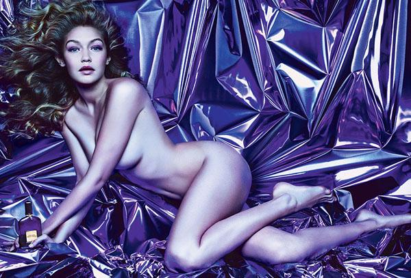 Джиджи Хадид в рекламе парфюма от Том Форд