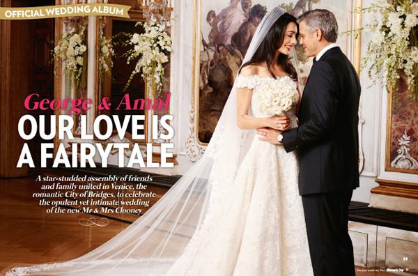свадеьное фото Джорджа Клуни и Амаль Аламуддин