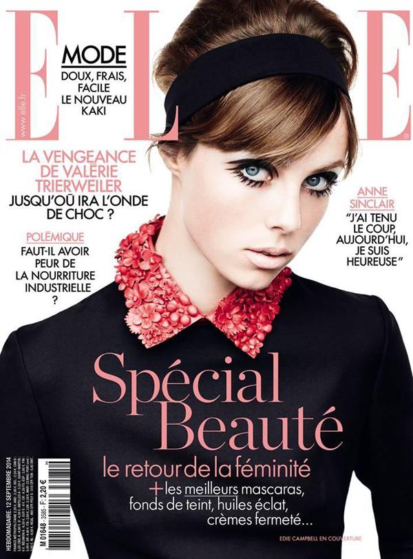 Эди Кэмпбелл на обложке Elle