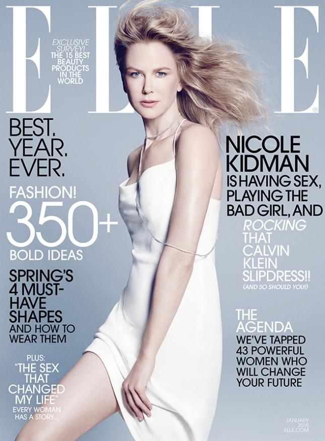 Николь Кидман на обложке Elle США