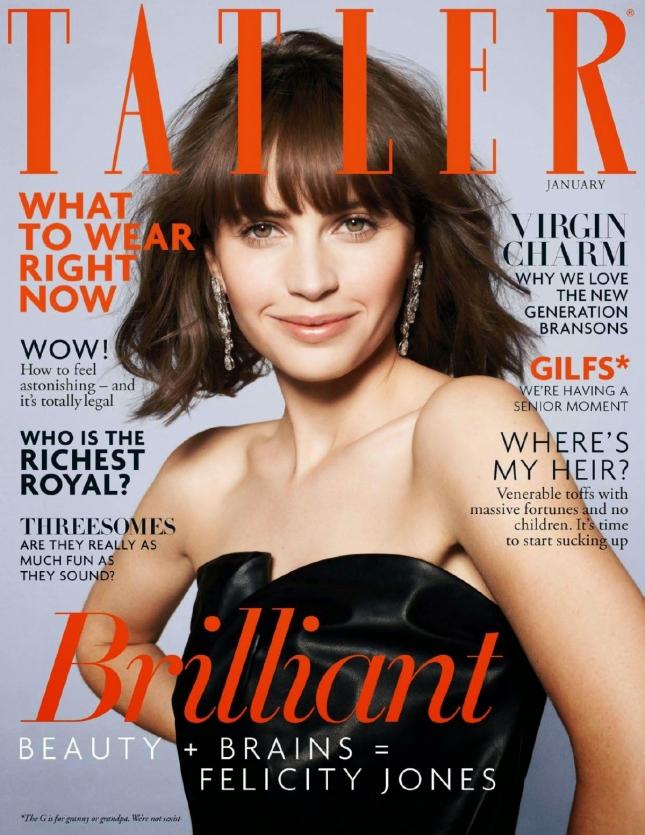 Фелисити Джонс на обложке Tatler UK