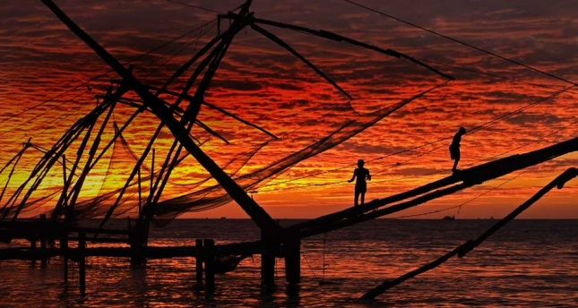 Закат в Керале
