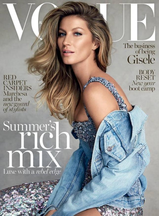 Жизель Бундхен  на обложке Vogue Австралия, январь 2015