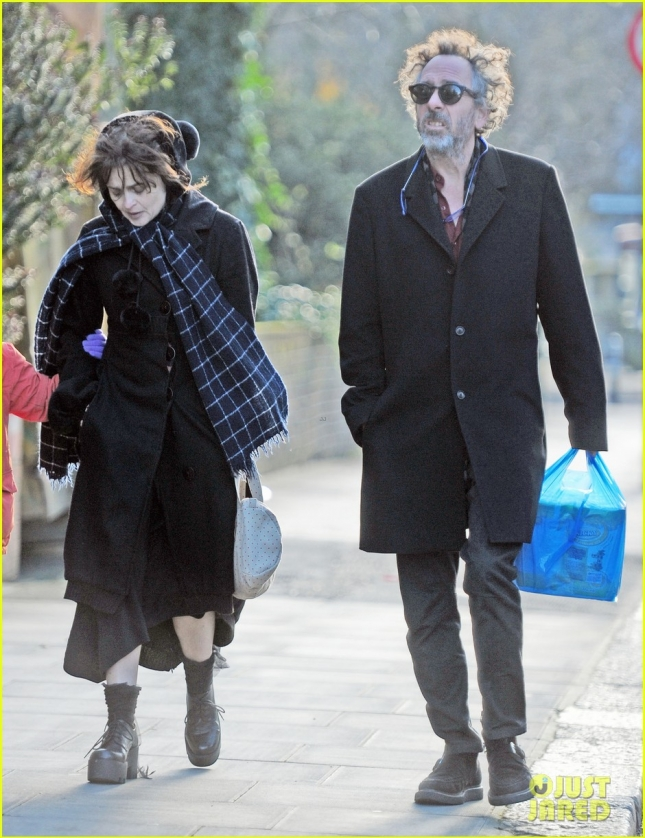 *EXCLUSIVE* Helena Bonham Carter and Tim Burton keep a united front for the kids **USA ONLY**