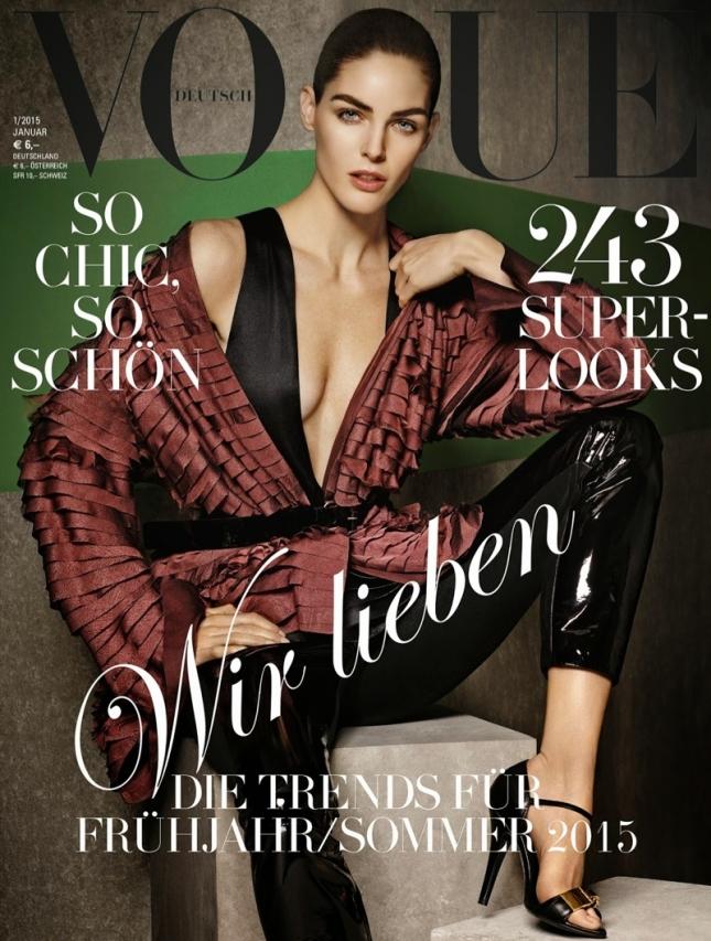 Хилари Рода на обложке Vogue Германия, январь 2015