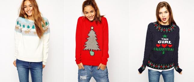 Рождественские свитеры Asos