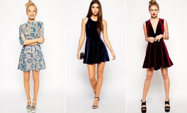 Бархатные мини-платья Asos
